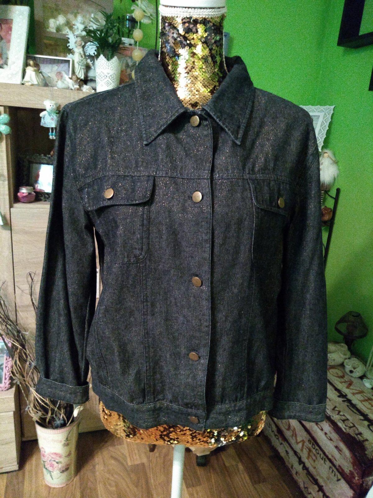 Dámska riflová bunda s trblietkami výpredaj 21f423e73f