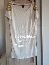 Predlžené tričko, h&m,l