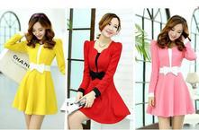 Šaty s mašličkou-viacero farebných prevedení, l - xxl