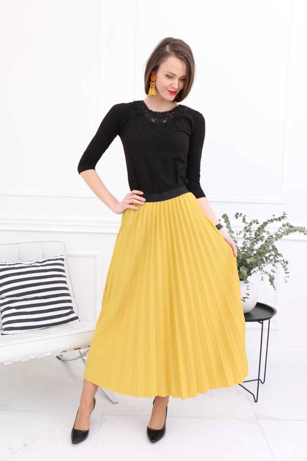 35c963d252e6 Plisovaná dlhá sukňa