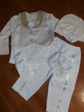 Chlapčenské oblečenie na krst - smotanová 7 cca 68, 68