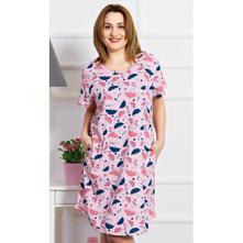 307f01f7d34d Dámske bavlnené domáce šaty s krátkym rukávom dážd