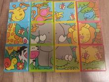Puzzle shape sorting & puzzle blocks - 12ks,