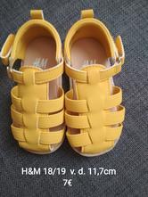 Žlté sandalky, h&m,19