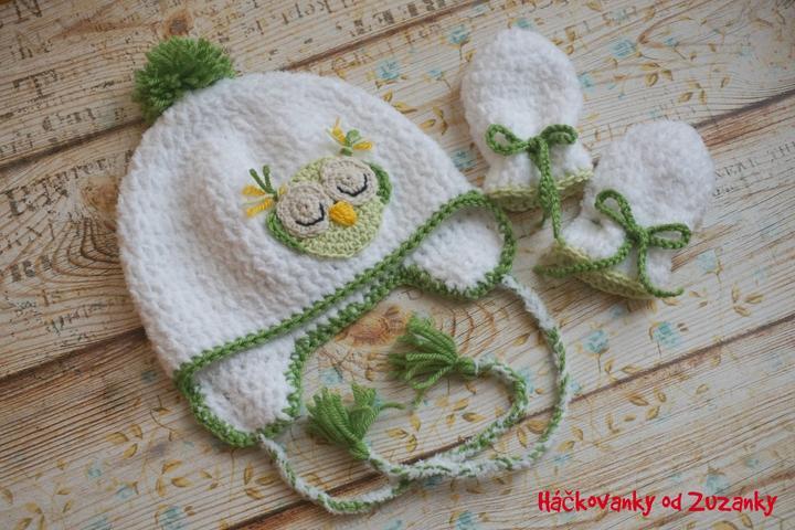 33de83a45 Háčkované a pletené: čiapočky, deky, svetríky.... - čiapočka sova, z ...