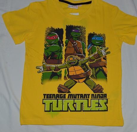 b83cda54e295 Chlapčenské letné tričko ninja korytnačky žlté