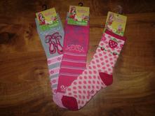 Ponožky strawberry 3x veľkosť 31 - 34, disney,31