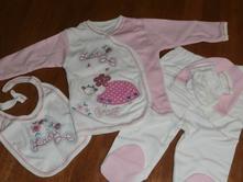 Novorodenecká súprava - lady - ružová cca 56   , 56