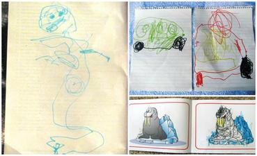 Detska Kresba Modry Konik