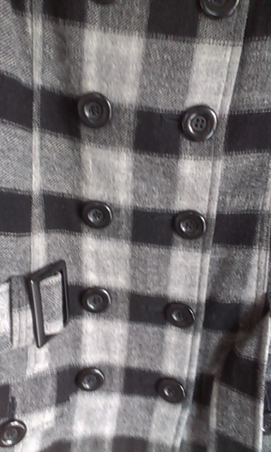 Flaušový krátky kabát veľ.36 1ee6f440291