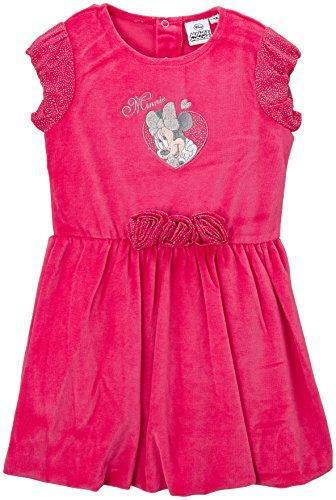 Dievčenské šaty minnie velúrové ružové a tmav.m eebb9eb4778