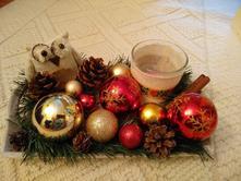 Vianočný svietnik so sovičkou,