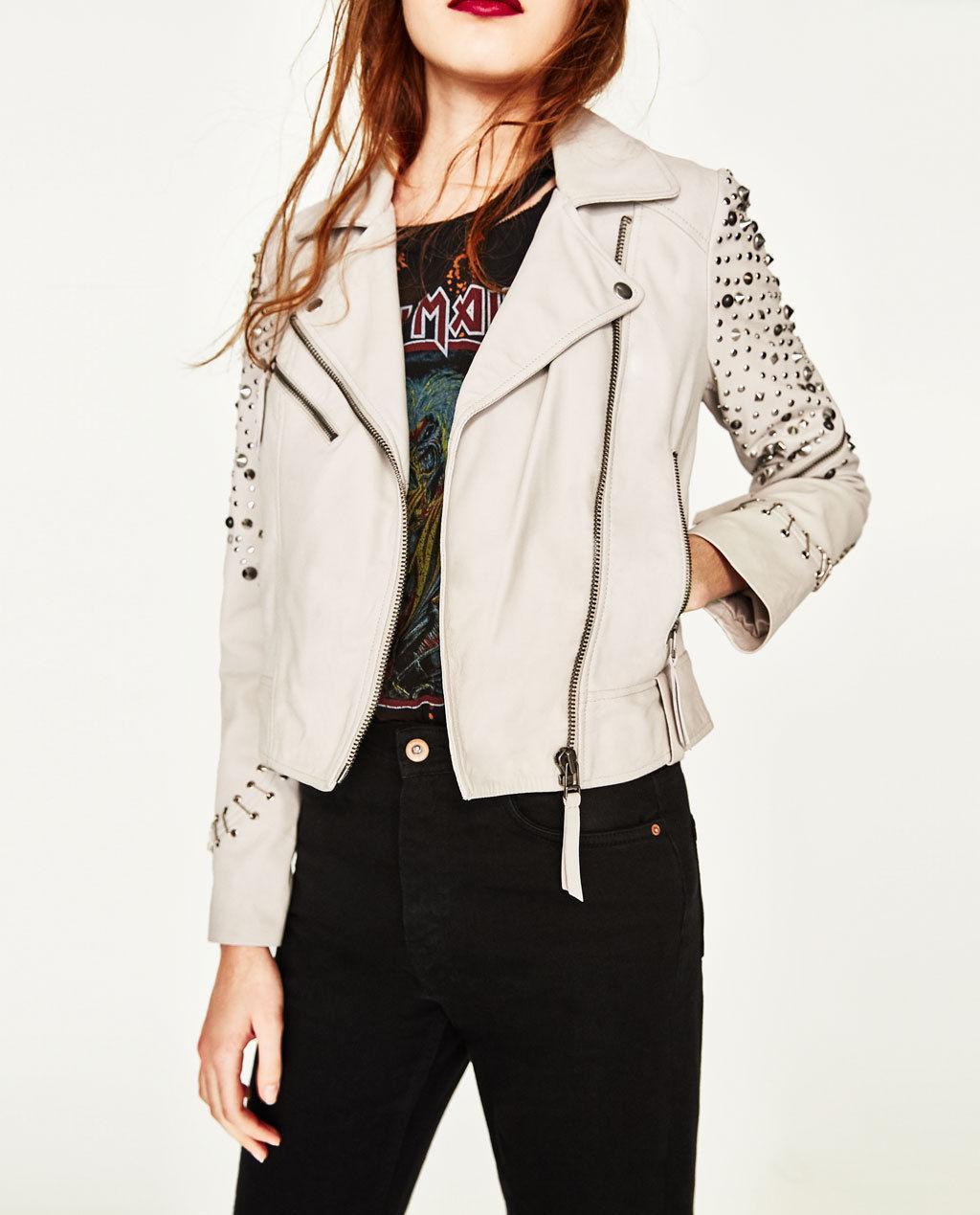 b2f17502da Nová dámska kožená bunda zara s jedinečným dizajno