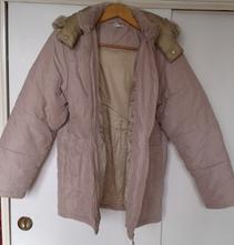 Bežová hrubá zateplena zimna bunda velkost 164, f&f,164