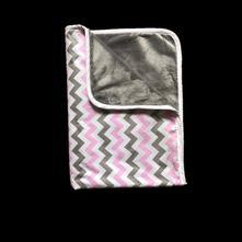 Detská deka cik-cak pink 70x100cm,