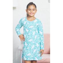 Detská bavlnená nočná košeľa s dlhým rukávom medve, vienetta kids,98 - 176
