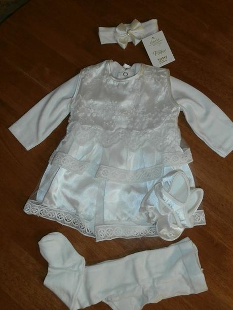 Dievčenské šaty na krst s body smotanová 2 cca 62  6c9905d0dc7