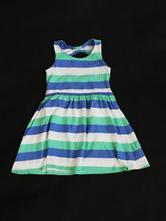 Prúžkované šaty s výstrihom next, veľ. 7 rokov v, next,122