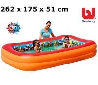 Bazén bestway potápači 3d 262 x 175 x 51 cm,