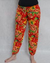 5cae5321253f Turecké nohavice aladinky haremky květinové xl xxl