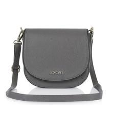 788de026a1 Dámska talianska kožená kabelka cez plece - šedá