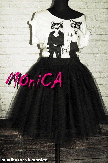 2dbd694762e4 Tylová sukňa - tutu - čierna - skladom