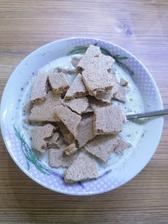 Syrova polievka a proteinovy chlebik