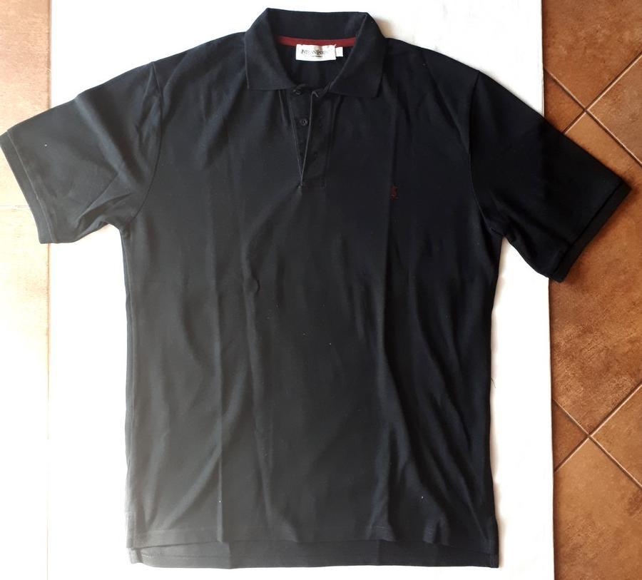 38de8bbc5b6a Čierne polo tričko ysl