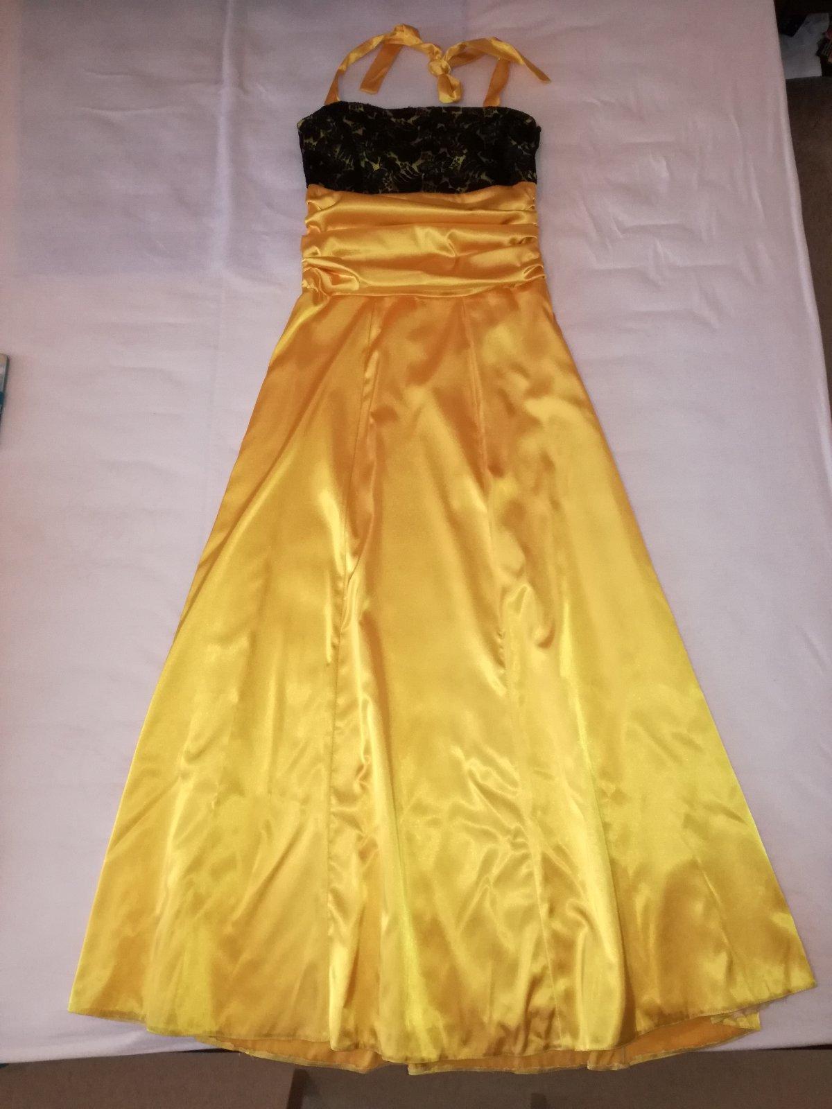 25c60196f8e7 Spoločenské dlhé žlté šaty