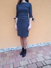 Úpletové šaty, orsay,s