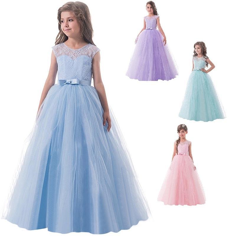 47b2a19e365d Dlhé dievčenské spoločenské šaty zoja 6-14r.