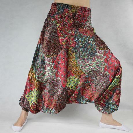 5d8389c77b24 Turecké nohavice - aladinky - haremky - saténové 8