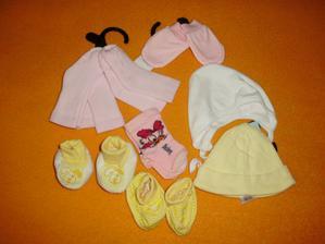 čiapočky, rukavičky, ponožky