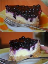 lahodný čučoriedkový cheesecake