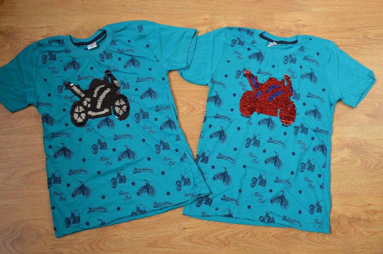 c6c8f2c26e0 Detské tričko bavlnené s meniacim motívom motorka