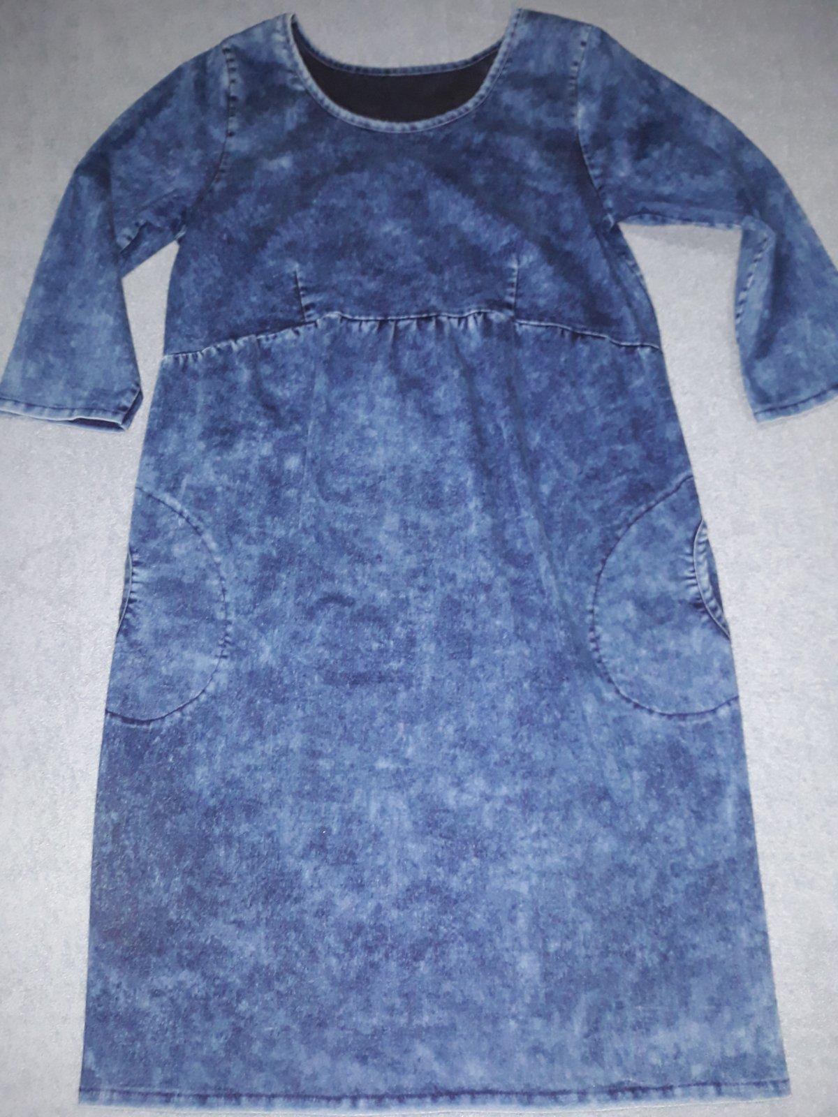 5844320a2278 Tehotenske riflove šaty xl