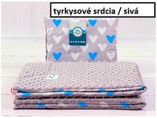 Súprava deka a vankúšik 75x100cm, 35x30 cm ,
