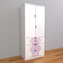 Detská skriňa - sloník - m2,