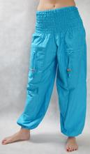 57c0f56ab16a Turecké nohavice aladinky haremky modra