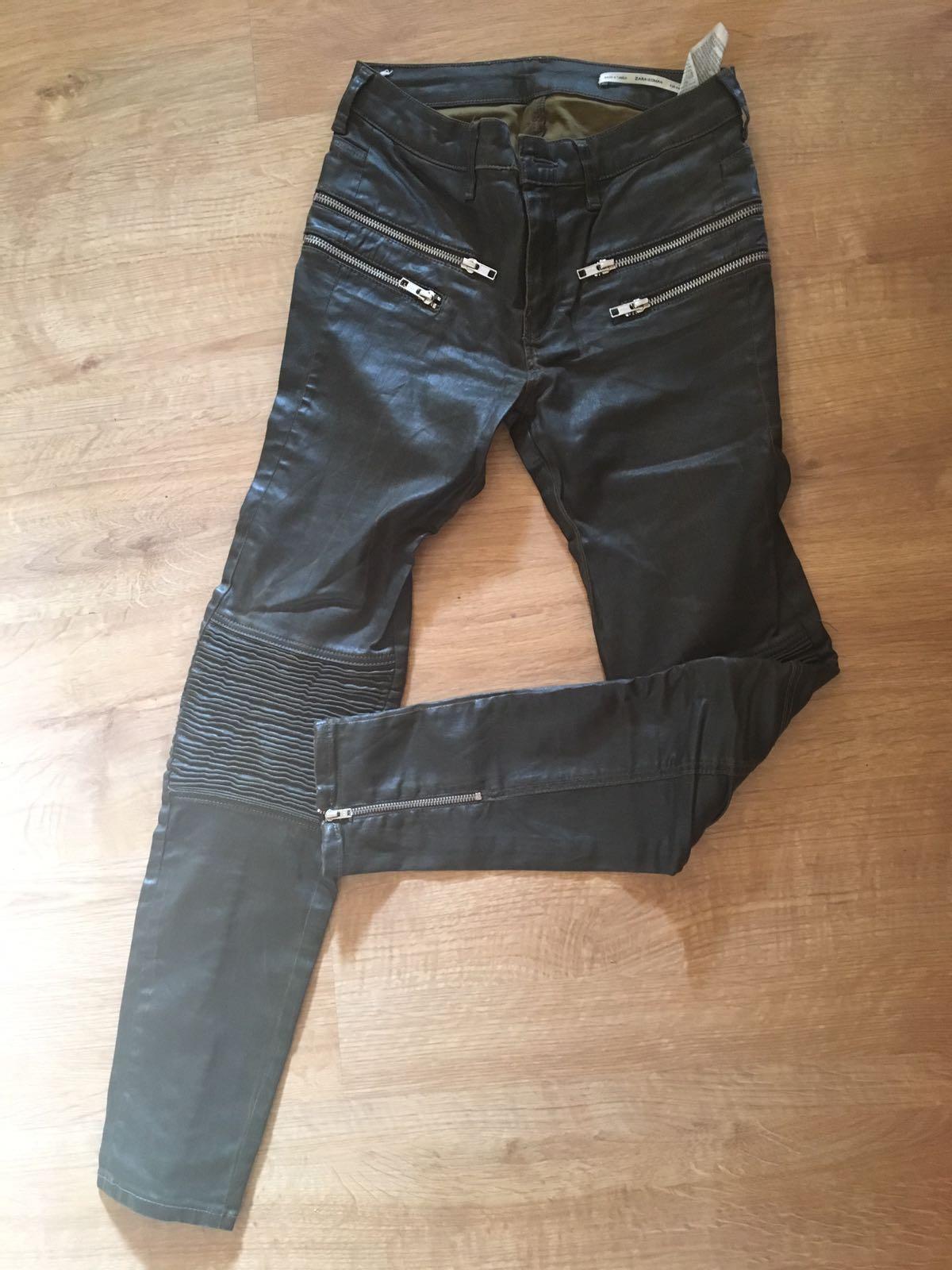 c5cd8a43f9 Zara kožené nohavice