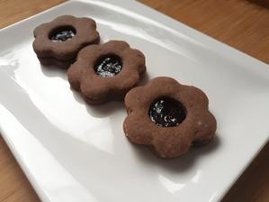 Lieskovo-orieškové linecké koláčiky (kvetiny)
