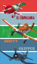 Osuška planes skipper 70/120 cm,