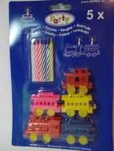 Narodeninové sviečky s vláčikom 5 ks/bal,