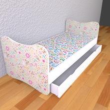 Detská posteľ bez bočníc - kresbičky,