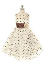 Dievčenské šaty timea hnedé, 98 - 152