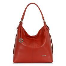 Luxusná talianska kožená kabelka loccati - červena 110086b5b0a