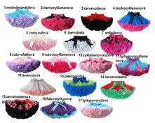 Krasne viacfarebne dolly sukne skladom, 50 - 146