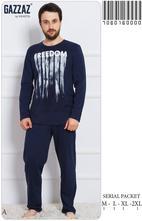 Pánske kvalitné bavlnené pyžamo, vienetta secret,l - xxxl