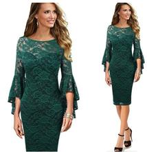 Čipkované šaty xs - 3xl - 3 farby, l - xxxl
