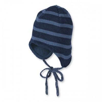 18ff4e933 Zimná pletená čiapka pre chlapcov tmavomodrá, sterntaler,<50 - 11,19 ...